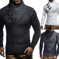 Fashion Mens Sweaters Hedging Turtleneck Pullover Sweater Ma...