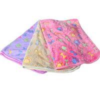 Симпатичные питомцы питомники маленькие теплые одеяло лапы печатают собака кошка хомяки щенок флис мягкие кровати коврик подушка