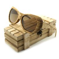 Luxary-gafas de sol BOBO BIRD Новые мужские поляризованные солнцезащитные очки Bamboo Zebra Wood Бренд-дизайн Пляжные солнцезащитные очки gafas de sol