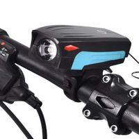 2019 nuevos faros luces de bicicleta de montaña faros linterna carga usb equipo de conducción nocturna accesorios de bicicleta al por mayor