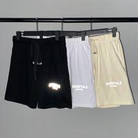 Мужчины шорты верхнего качества 18SS Противотуманного ESSENTIALS квадратной Одежда Мода Мужской Короткие штаны 3 м отражательного письмо Вышивка Хип-хоп шорты