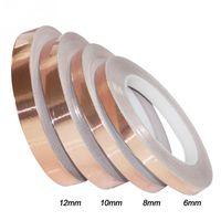 Fita da folha de cobre da fita da folha única da forma única de 30m / PC Fita da folha de cobre de alta temperatura 6/8/10 / 12mm