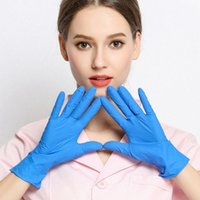 Латекс нитриловых перчатки 100шта нестерильные Многофункциональная бытовая очистка резиновой одноразовые перчатки Ресторанных Перчатки DDA127