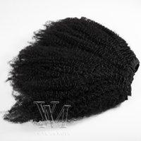 Бразильский от 8 до 20 дюймов 100 г 120г 140г 160 г Натуральный цвет Афро странный курчавый 4C Remy Virgin человеческие волосы в