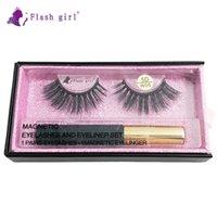 Hot Verkauf privaten label W-05 1 Paar 5D mink magnetische Wimpern mit Luxus Verpackung und flüssigen Eyeliner