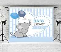 Мечта 7x5ft Baby Shower Фото Фон Слон шары Декор День рождения Фон для детей партии Shoot Backrops Студия Prop