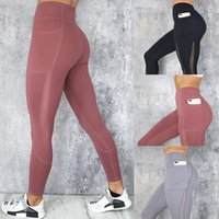 Palestra Nudo-sentire Collant Yoga Pants Leggings Sport Donne Squat fitness Prova a vita alta di allenamento Sport Leggings in corso Pants