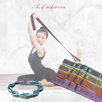 Yoga Elasticité Allongez-Yoga Sangle flexible Loops Pilates Workouts #D
