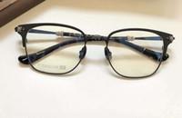 Marco negro de Squre anteojos anteojos de titanio lente clara marcos ópticos Moda hombres marco de las lentes nuevos con la caja