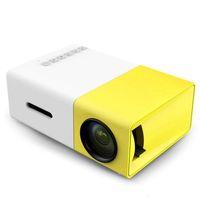 YG300 محمول العارض YG 300 led 400-600lm 3.5 ملليمتر الصوت 320 × 240 بكسل YG-300 USB ميني بروجيرز وسائل الإعلام الرئيسية مشغل 20 قطع