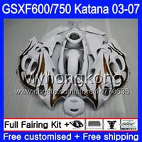 GSXF-600 для SUZUKI KATANA gsxf 750 600 золото пламя акции GSXF600 03 04 05 06 07 293HM.58 GSX 750F GSXF750 2003 2004 2005 2006 2007 обтекатель