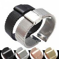 Pulseira de pulso de aço inoxidável Milanese malha faixa de relógio pulseira Strap 18 20 22 24 milímetros