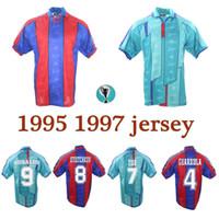 1995 1997 GUARDIOLA 4 FIGO 7 Stoichkov 8 RONALDO 9 GIOVANNI 10 LUIS ENRIQUE 21 de la Pena 23 retro jersey 96 97 camisas classsic