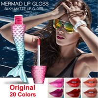 Mermaid Lip Gloss Ibcccndc opaco liquido Rossetto Trucco Silky Lip Gloss kit 20 colori Velvet Lipgloss duraturo Lips bellezza