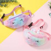 Мода рюкзаков Kid Unicorn Фаршированная Карандаш сумка талии пояс Fanny Pack Пляжная сумка Студенческие подросток Кошельки Спорт Открытый Косметические сумки