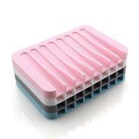 Yeni Kaymaz Sabun Çanak Silikon Sabunluk Tepsi Depolama Sabunluk Plaka Kutusu Banyo Duş Konteyner Banyo Aksesuarları VT0601