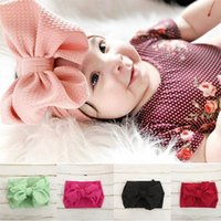 9 Colors Solid Color Hair Bow Baby Girl Head Wrap Wide Headb...