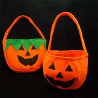 Хэллоуин тыквенные мешки Hallowmas мешки подарочные пакеты Drawstring конфеты мешок хитрости или Хэллоуин пользу FRA1964