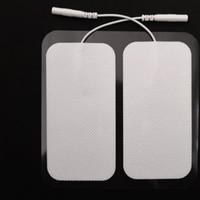 Electrode Pads TENS Unité 2 * 4 pouces rectangulaire électrode pour TENS EMS Massage de massage Appareil avec Long Lasting Gel fiable