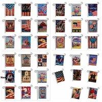 Patrón Serie 33designs partido del indicador Jardín Unión EE.UU. Decoración de la bandera americana de doble cara de la bandera del jardín del césped del hogar de la decoración 47 * 32cm 50pcs FFA1929