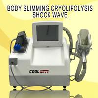Haute qualité 2 en 1 Cryolipolysis grosse machine de congélation Thérapie d'ondes de choc amincissant la machine de perte de poids d'onde de choc