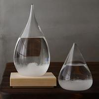 Hava tahmini kristal tempo 17.5 * 8 cm damla su şekli fırtına cam hava yordayıcısı şişe Noel zanaat sanatlar hediyeler lin4710