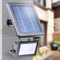 Luci di inondazione solari 30 Riflettori luce principale solare di sicurezza di emergenza per Outdoor Cortile Giardino Patio Pathway Pool