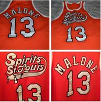 Özel erkekler Gençlik kadınlar nadir # 13 Musa Malone ruhu St Louis Koleji Basketbol forması boyutu S-4XL veya özel herhangi bir isim veya numarası jersey