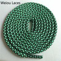 Weiou vendita calda moda escursionismo stivale da passeggio lacci Novità Casusal Two Tone Rope Merletto Logo personalizzato Logo Shoelaces per 6 paia Eyelets 140cm