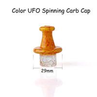 Glas Spinning Carb-Kappe mit 4Kind Farbe UFO Glas Spinning Carb-Kappe für Schrägkante Flat Top Quartz Banger Nägel, Glas, Wasser Bongs