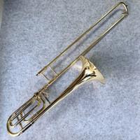 Professioneller Bach Bb-F # Tune Tenorposaune neues Ankunfts-Messing Goldlack Spielt Horn Musikinstrument mit Fall-freiem Verschiffen