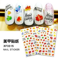 Lettre papillon Nail Art Sticker, autocollants Nail 14 Styles d'érable, papillon, fleurs Nail Art Stickers Nail Art Foils