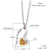 الفولاذ المقاوم للصدأ القلب على شكل جرة قلادة زجاجة عطر للأبد في قلبي لتذكر قلادة الحيوانات الأليفة الأسرة