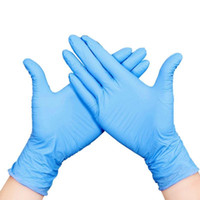 wholesale blue color disposable gloves plastic disposable gloves nitrile gloves household cleaning wear-resistant dust proof anti skid