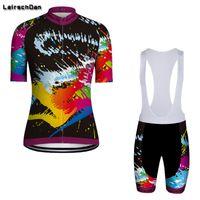 SPTGRVO LairschDan 2020 Pro Team лето женщины дышащий с коротким рукавом задействуя Джерси Kit Ropa Майо Mtb велосипеды Одежда Set