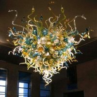 Fanstic Cheap Coloruful Потолочный светильник уникальный дизайн ручной вручную Стекло люзжой освещение большой лобби для гостиниц Мурано стеклянная люстра (LR022)