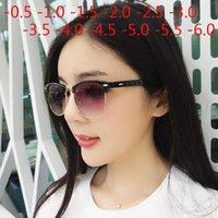 رجل إمرأة طلاب قصر النظر المعادن نصف الإطار قصر نظر رمادي عدسة نظارات -0.5 -1.5 -1 -2 -3 -2.5 -3.5 -4.5 -4 -5 -6
