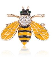 Fashion Trends Designer Brooches Colorful Crystal Mini Bee B...