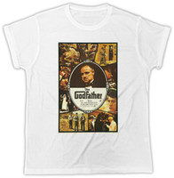 GODFATHER, T-SHIRT MENS, DESIGNER, T-SHIRT MANICHE CORTE ESTATE * T-shirt stampata colore jersey