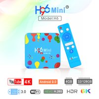 4GB 32GB H96 Mini Android 9.0 TV Boîte Allwinner H6 Quad Core 6K H.265 WiFi YouTube Set Top Box H96Mini 4GB32GB