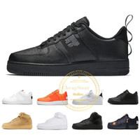 2019 Utilitaire Rouge Noir Blanc Chaussures De Course Noir Blanc Just Orange Wheat Femmes Hommes High Low Cut Trainers Sport Sneakers 36-45