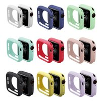Candy Colors Soft TPU Silicone Protective Cover Case For Apple Watch iWatch Series 1 2 3 4 38mm 42mm 44mm 40mm