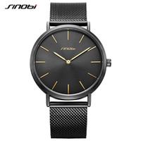 SINOBI мужские простые часы мода классический золотой корпус синий ретро Милан ремешок для часов бизнес кварцевые Wirstwatch мужские часы relojes