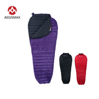 AEGISMAX New Nano Atualize 700FP Sleeping Bag Ultra Dry White Goose Down emenda Mummy ultraleves caminhadas camping