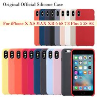 For iPhone xs max x xr 8 6s 7 silicone case original style L...