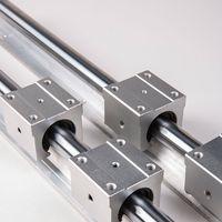 2 Установка SBR20 20 мм Полностью поддерживает линейный рельс-вал стержень + 4шт SBR20UU линейные подшипники линейные направляющие цилиндрические рельсы деревообрабатывающие ползунки