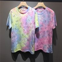 19s Paris CHAN carving Lovers Tshirts Rainbow Ice- cream Crew...