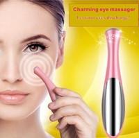 10pcs portatile elettrica termica Eye Massager Eye Care strumento di bellezza del dispositivo rimuovere rughe occhiaie Puffiness massaggio rilassante