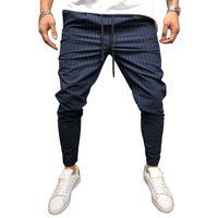 WENYUJH 2019 Mode Hommes Crayon Casual Pantalon Sportswear Fitness Coudre Pantalons de survêtement Bandes Pieds Hip Hop Corde Costume Pantalon Hombre