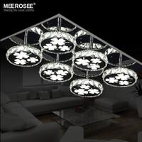 Moderna LED Lampadario di illuminazione Piazza cristallo lampada rotonda lamparas de techo LED Lampada da soffitto incasso Luce Cucina Camera